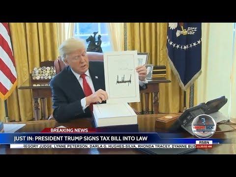 🚨 WATCH: President Donald Trump Signs Historic Tax Cut Bill into Law 12/22/17