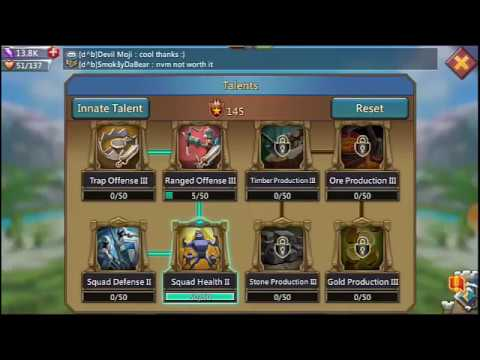 Lords Mobile : Extreme Best War Talent 2018