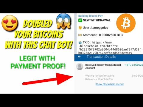 DOUBLED YOUR BITCOINS WITH THIS CHAT BOT (SCAM NOW DONT INVEST)