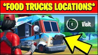 VISIT DIFFERENT FOOD TRUCKS LOCATIONS (Fortnite REMEDY VS TOXIC OVERTIME Challenge Locations)