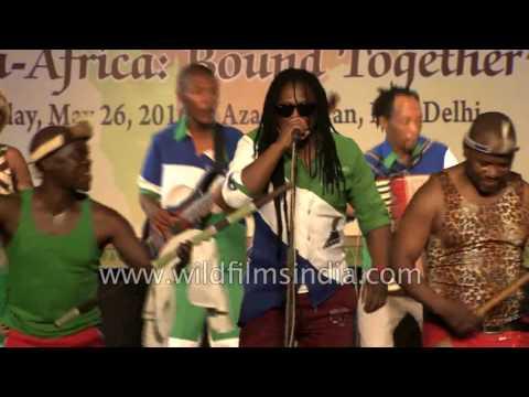 African musical troupe 'Likakapa Africa' plays Basotho music