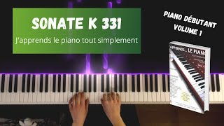 Sonate K331 - J'apprends le piano tout simplement - Volume 1
