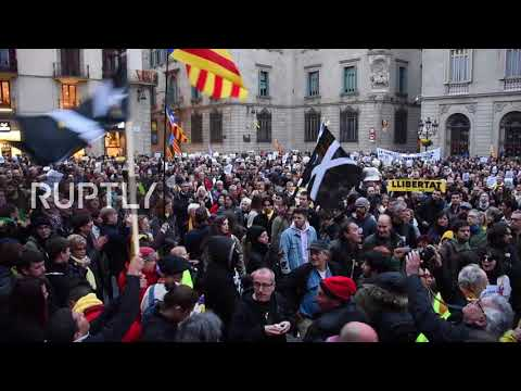 Spain: Thousands protest detainment of pro-Catalan independence leader