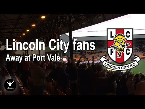Lincoln City fans away at Port Vale. Just the 6-2! Quality day and class fans..