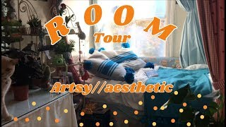 Artsy and aesthetic room tour 🌟