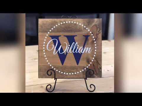 Wood Signs for Kid's rooms, DIY easy and fun, watch how to make this name sign