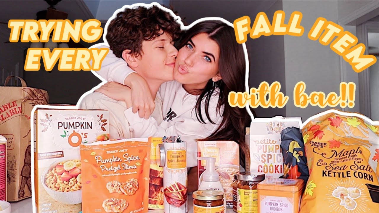 trying pumpkin spice foods with bae! fall mukbang 2020
