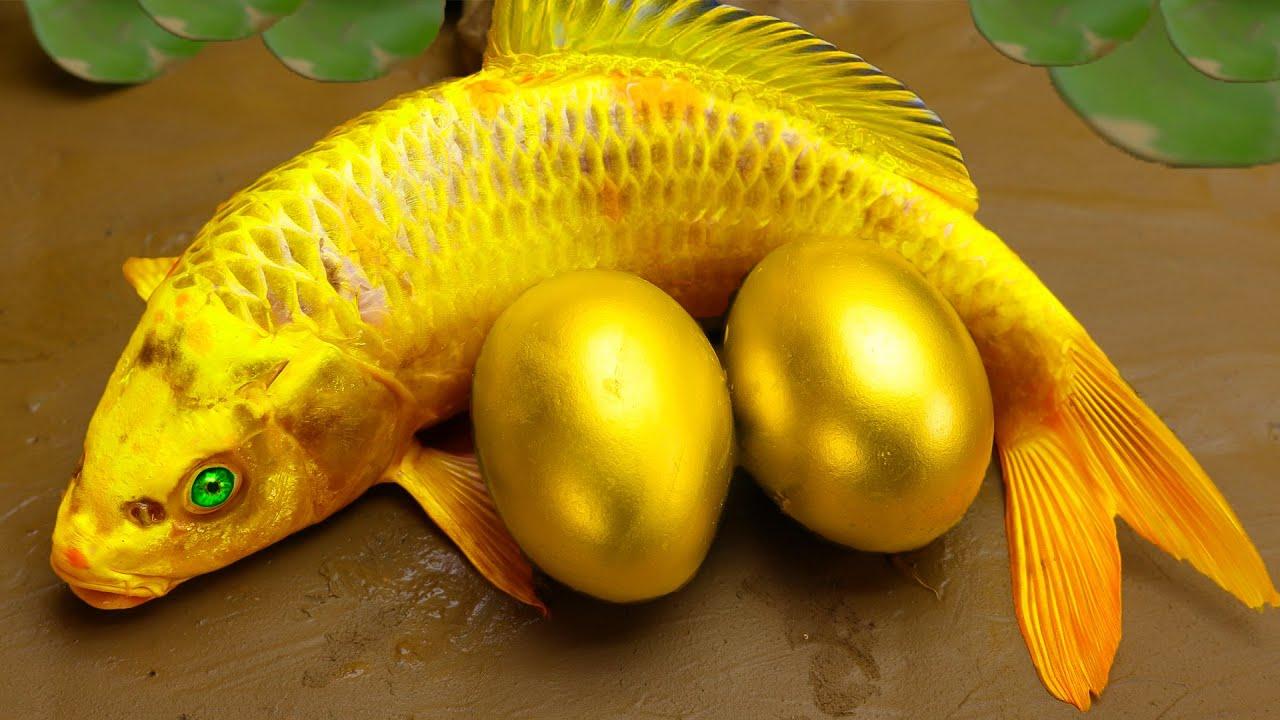 Stop Motion Cooking ASMR 다채로운 잉어 물고기, 귀여운 핑크 악어 Funny Video 스톱모션 요리
