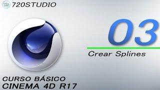 Cinema 4D R17 - Crear Splines - Tutorial Básico 03 - En Español