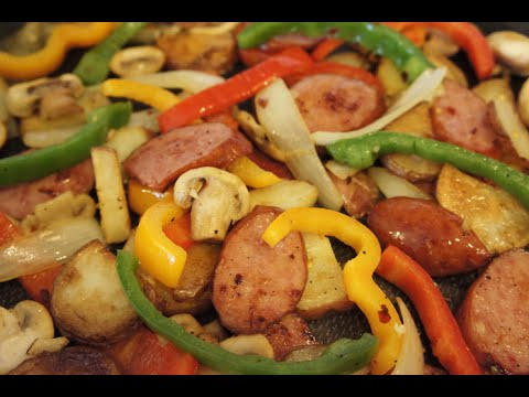 How to make a Polish Sausage Skillet with Vegetables - 99 CENTS ONLY store recipe