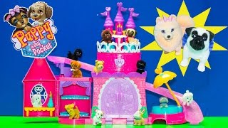 PUPPY IN MY POCKET Pretty Pet Palace + SURPRISE Puppy Video Toy Unboxing