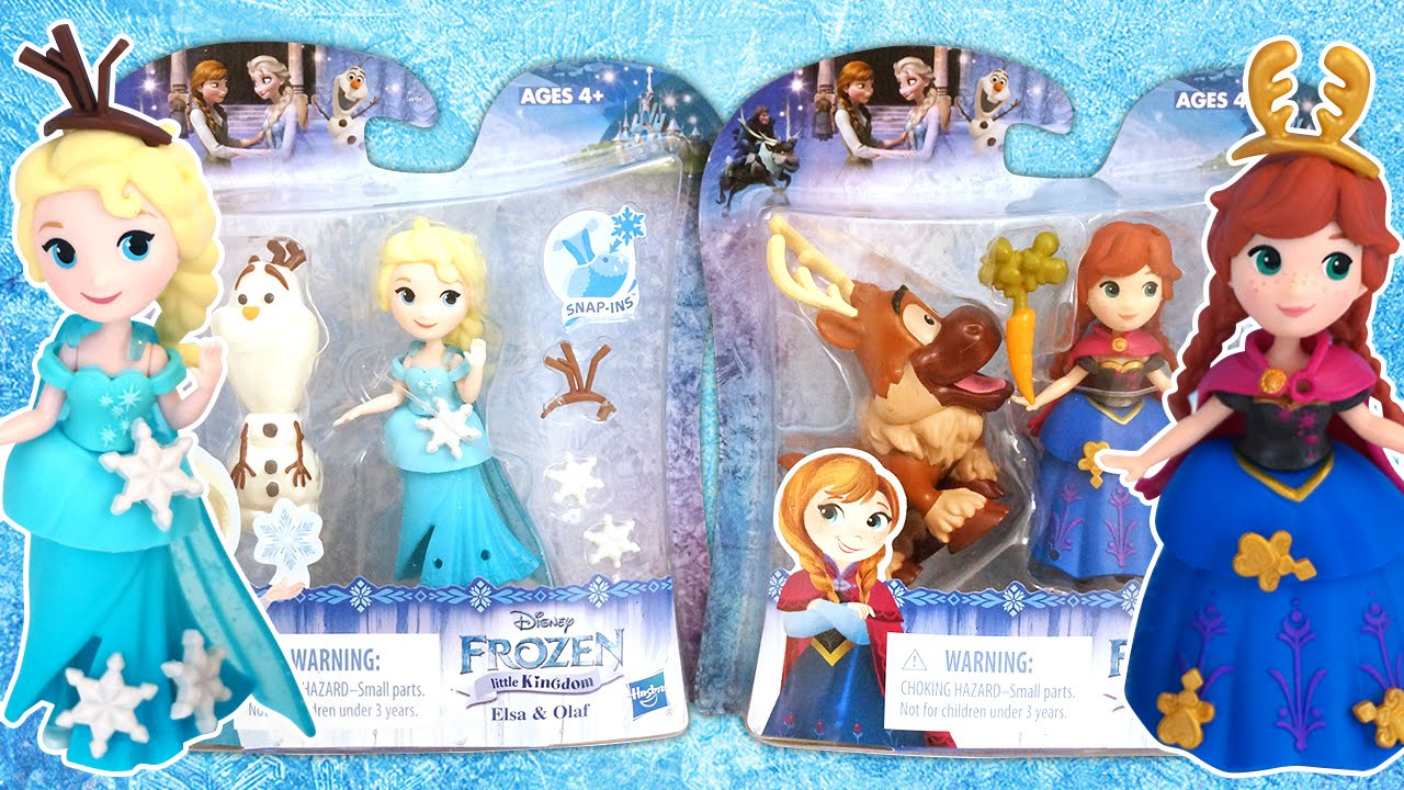 4c37b5bbad8 Disney Princess Little Kingdom | Frozen - Elsa & Olaf and Anna & Sven - New  by Hasbro - YouTube