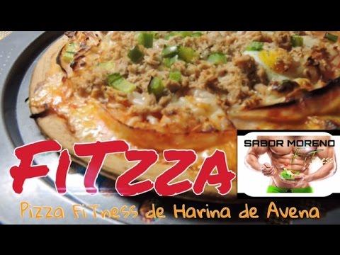 Pizza Fitness con harina de avena |FITZZA| Sabor Moreno FiT
