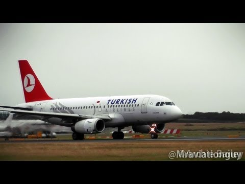 Turkish Airlines A319 TC-JLN Land and Takeoff | Edinburgh Airport With ATC.