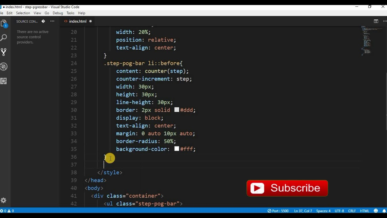 Step By Step Progress Bar in Css and Html