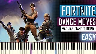 How To Play: Fortnite - Dance Moves Mashup | Piano Tutorial EASY