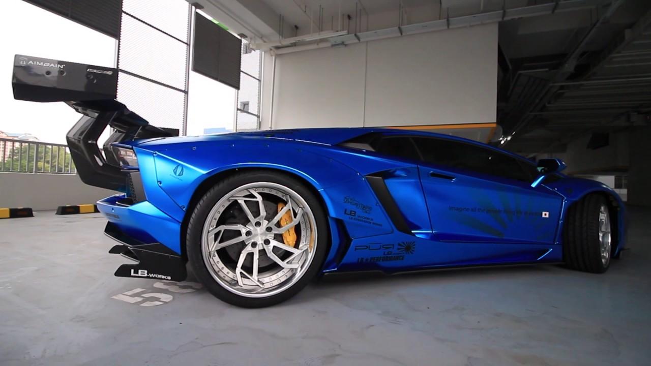 Singapore S Only Liberty Walk Lamborghini Aventador Youtube