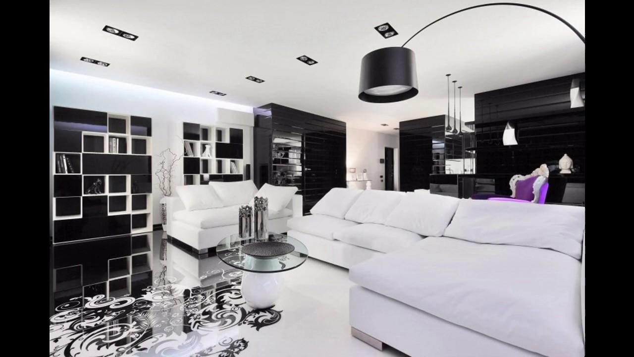 idees de salon noir et blanc