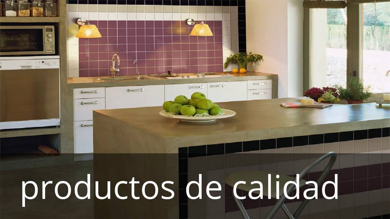 Ceramicas para cocinas modernas peque as youtube for Colores para cocinas modernas pequenas