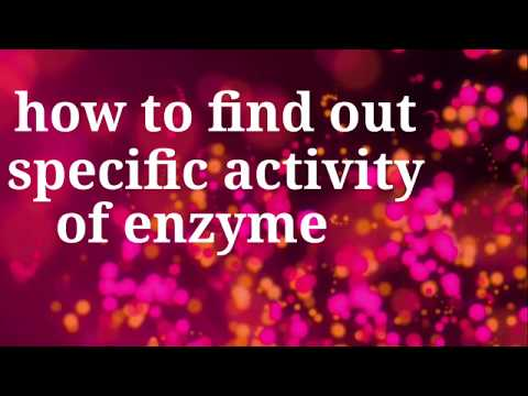 How to find out specific activity of enzyme for CSIR NET GATE DBT enzyme specific activity question