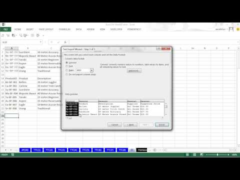 Highline Excel 2013 Class Video 39: Excel Import Data: Text File, CSV File, Access, Excel File