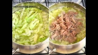 Рецепты первых блюд:Щи из свежей капусты (летние)