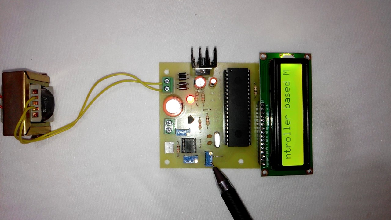Microcontroller based Moving Message Display On LCD - 8051 Mini ...