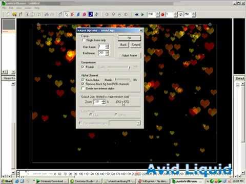 Hướng dẫn tạo aplha tim rơi trong Particle Ilussion chp avid liquid -www.dungphim.com