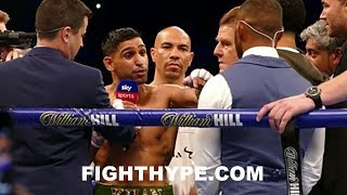 (WOW!) AMIR KHAN AND KELL BROOK TRADE WORDS IN HEATED IN-RING CONFRONTATION AFTER LO GRECO WIN