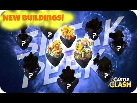 Castle Clash Sneak Peak New Buildings Makeover