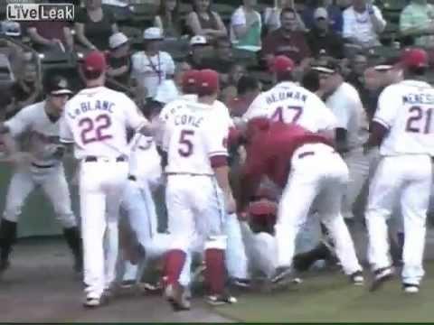Minor League Baseball Brawl (Boston vs New York)
