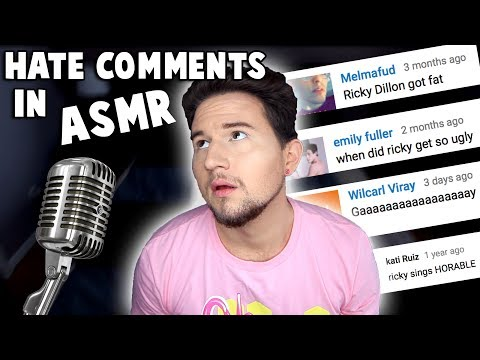 Reading HATE Comments in ASMR