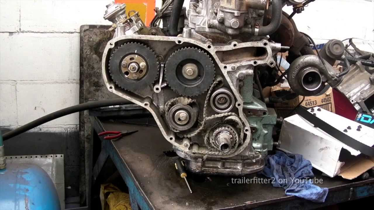 Land Rover 200tdi Timing Belt From Broken Belt to Retiming the Engine  YouTube