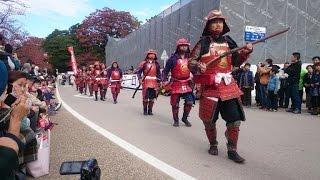 JAPAN Red Samurai  parade①【HD】 鎧武者(井伊の赤備え)パレード