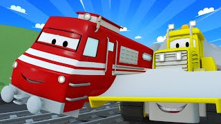Zug für Kinder -  Billy die Planierraupe  - Troy der Zug in Car City