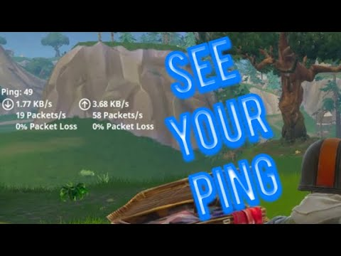 ✅ HOW TO SEE YOUR PING IN FORTNITE!