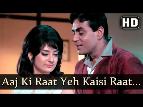 Aaj Ki Raat Ye Kaisi Raat (HD) - Aman Songs - Saira Banu - Rajendra Kumar - Old Bollywood Songs