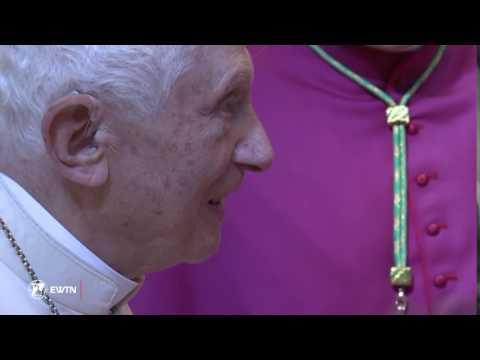 EWTN Video of Benedict XVI Greeting New Cardinals