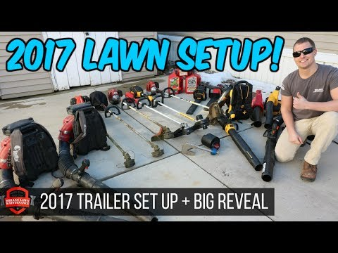 It's Here! 2017 Lawn Care Setup + Big Reveal! New Lawn Care Trailer And Upgrades!