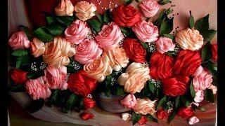 ОЧЕНЬ  ПРОСТАЯ   РОЗОЧКА -- ШКОЛА ВЫШИВКИ ЛЕНТАМИ  Татьяны Шелиповой: / How to Make ROSE