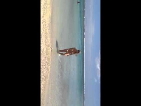 Blondie in Hawaii yellow polka dot bikini