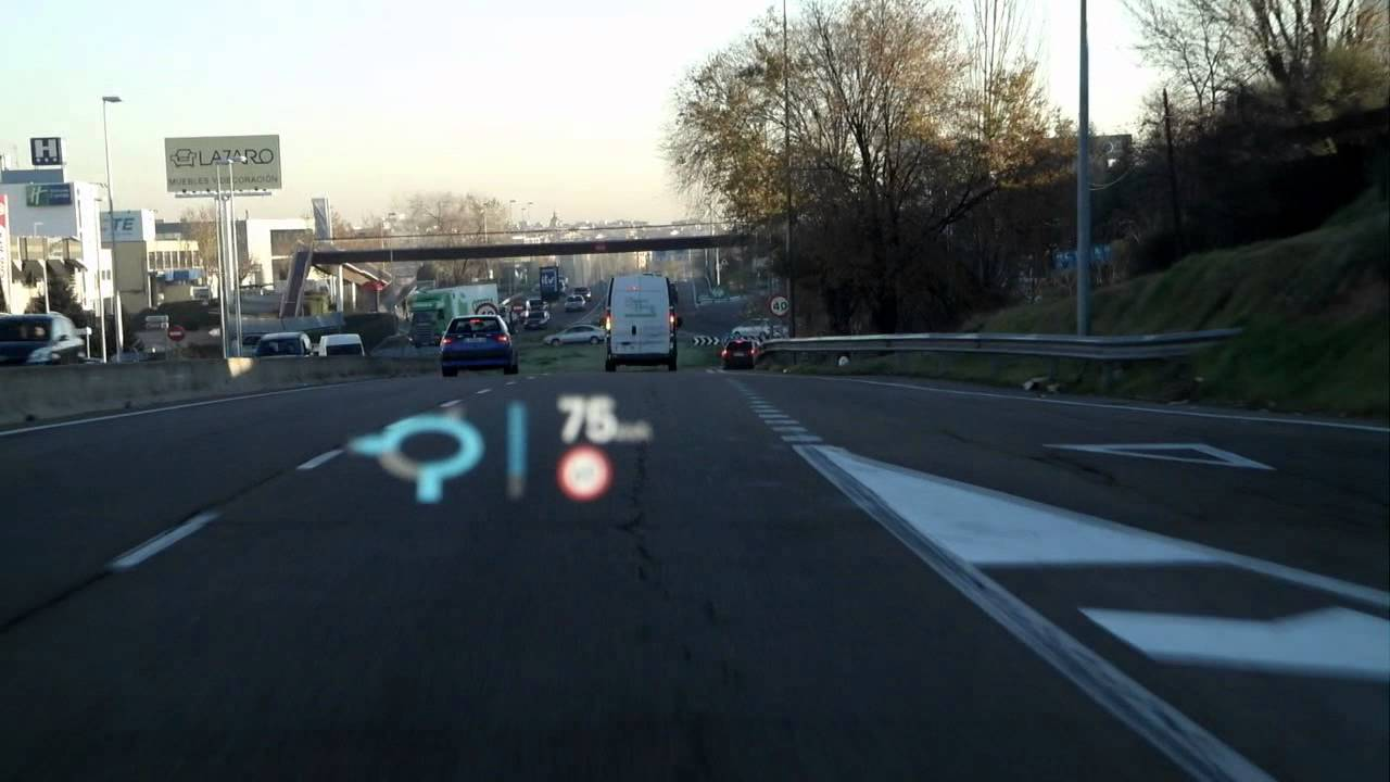 Audi S7 Sportback Head Up Display Youtube