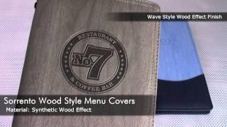 Sorrento Wood Style Menu Covers