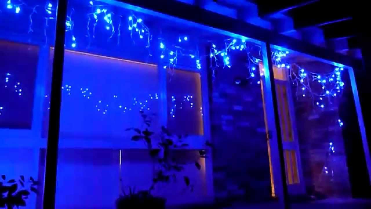 christmas lighting show display icicle led christmas fairy light blue white - Blue And White Led Christmas Lights