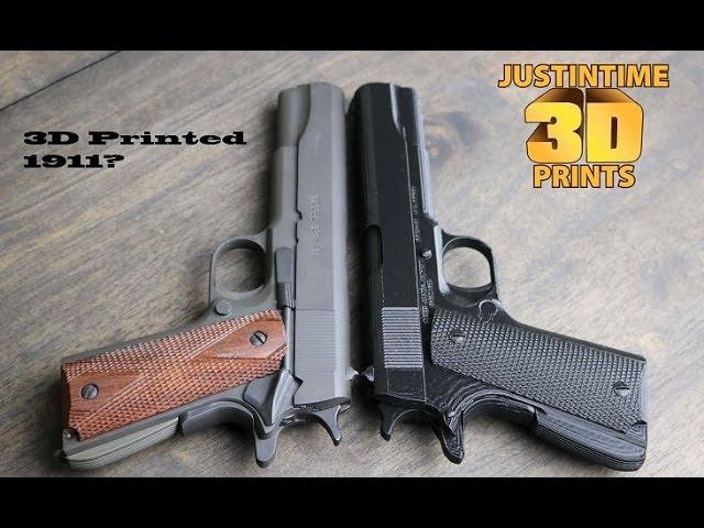 3D Printing: 1911 Pistol Time Lapse