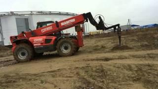 видео Применение ямобура в строительстве фундамента