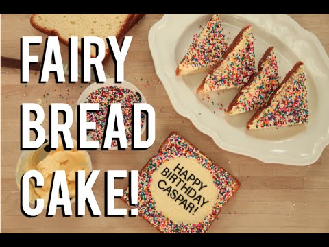 How To Make FAIRY BREAD...Cake! Vanilla cake with buttercream and hundreds and thousands!