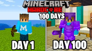 I Survived 100 Days in HARDCORE Minecraft...