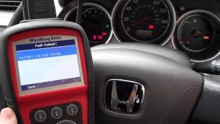 Autel MD701 Diagnose Honda ABS Warning Light & Fault Trouble Codes