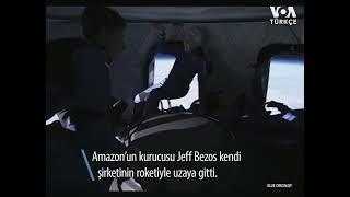 Jeff Bezos uzaya çıktı